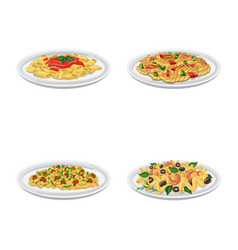 pasta and carbohydrate vector image