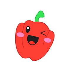 Pepper cute kawaii character vector