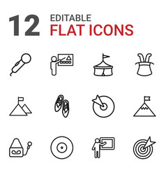 Performance icons vector