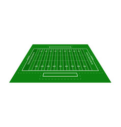 perspective green american football field view vector image