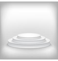 Photorealistic Winner Podium Stage Background vector