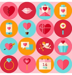 pink flat valentine day seamless pattern vector image