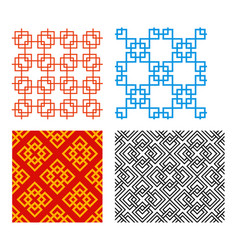 seamless chinese pattern in geometric style vector image