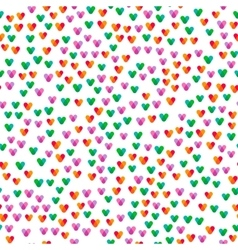 Seamless pattern with small colorful hearts vector