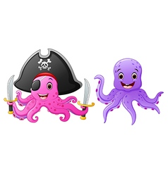 Set of octopus cartoon vector