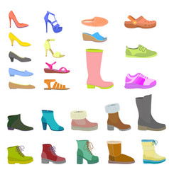 shoes icon set flat style vector image