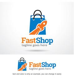 Shop logo template vector