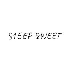 sleep sweet ink pen lettering vector image