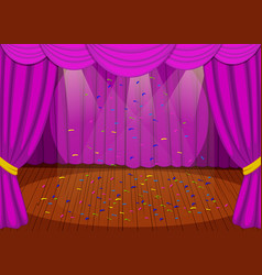 stage with purple curtains vector image