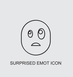 Surprised emot icon vector