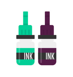 Tattoo ink for tattooing of clients skin set vector