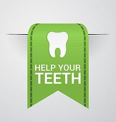 Ticket to help your teeth vector