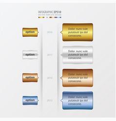 timeline template gold bronze silver blue vector image