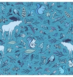 Turquoise Forest Pattern vector image vector image