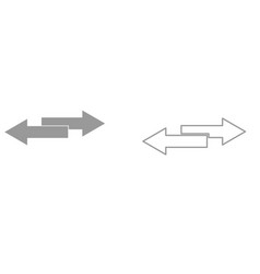 two side arrows it is black icon vector image