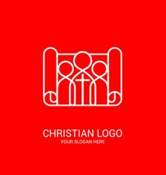 unity believers in jesus christ vector image