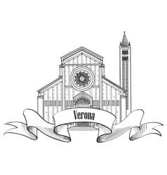 verona city label travel italy icon famous vector image