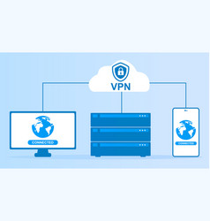 vpn service concept vector image
