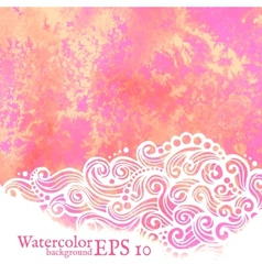 watercolor background Painting vector image vector image