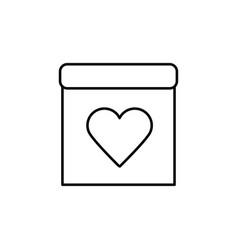 wedding date calendar icon vector image