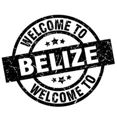 welcome to belize black stamp vector image