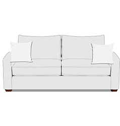 White sofa vector image