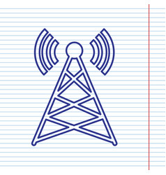 antenna sign navy line icon vector image