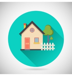 Real Estate Symbol House Building Private Property vector image vector image