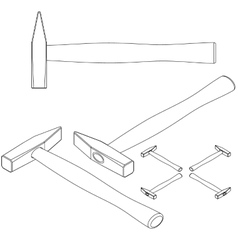 set tools isometric on a white background vector image vector image