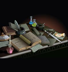 Table of alchemist vector