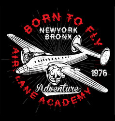 Vintage airplanes typography shirt graphics vector