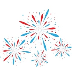 Abstract firework background vector image