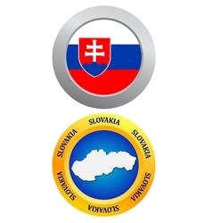 button as a symbol SLOVAKIA vector image vector image