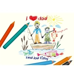 I love dad Happy Fathers day vector image vector image