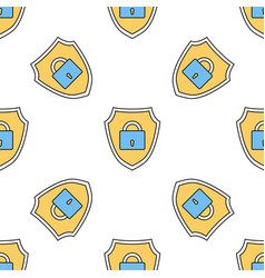 linear seamless pattern with safety internet vector image vector image