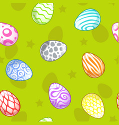seamless pattern with painted eggs vector image