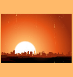 summer sunrise city vector image