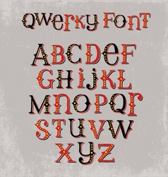 vintage quirky hand drawn font vector image vector image
