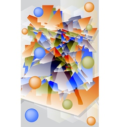 Abstract futuristic background with geometric vector image vector image