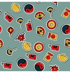 Colored Chinese New Year pattern vector image