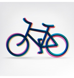 colorful bicycle icon vector image vector image