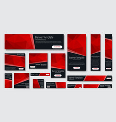 design of black banners of standard size vector image