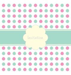 Floral Invitation Pattern vector image