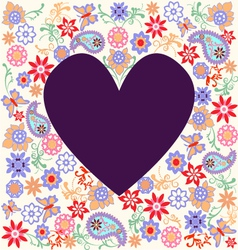 floral pattern heart vector image vector image