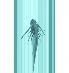 girl moving up in water vector image vector image