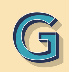 Letter g retro text style fonts concept vector
