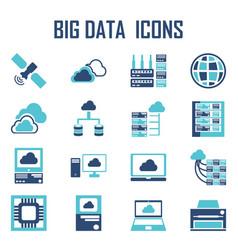 big data icons vector image