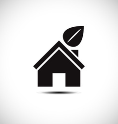 Bio green house icon vector image