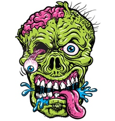 Detailed Zombie Head vector image vector image