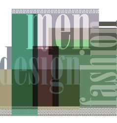 Fashion abstract background vector image